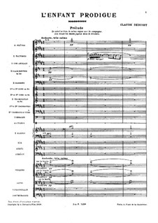 L'enfant prodigue (The Prodigal Son), L.57: Full score by Claude Debussy