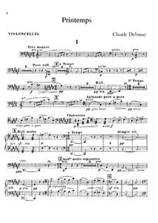 Printemps: Cellos part by Claude Debussy