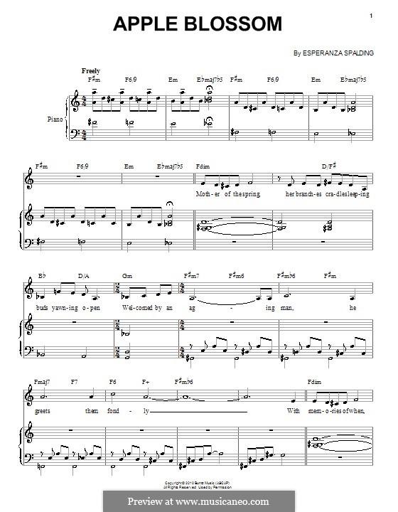 Apple Blossom: For voice and piano by Esperanza Spalding