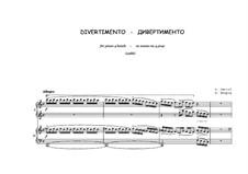 Divertimento for piano four hands: Divertimento for piano four hands by Peter Petrof