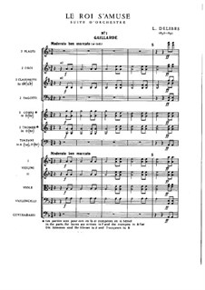 Le roi s'amuse: Full score by Léo Delibes