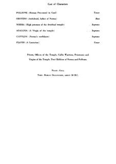 Complete Opera: Italian text by Vincenzo Bellini
