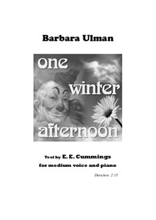 One winter afternoon: One winter afternoon by Barbara Ulman