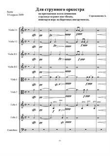 For String Orchestra: For String Orchestra by Anna Strelnikova