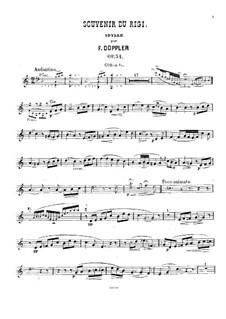 Souvenir du Rigi, Op.34: French horn part by Franz Doppler