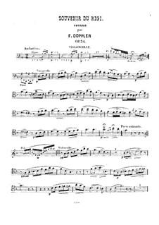 Souvenir du Rigi, Op.34: Cello part by Franz Doppler