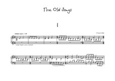 The Old Songs for piano: The Old Songs for piano by Peter Petrof