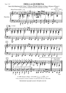 Della Quercia: For piano by Unknown (works before 1850)