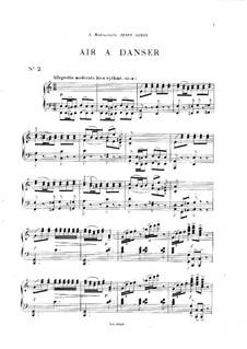 Vingt pièces nouvelles: No.2 Air a danser by Théodore Dubois