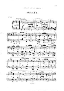 Vingt pièces nouvelles: No.4 Sonnet by Théodore Dubois