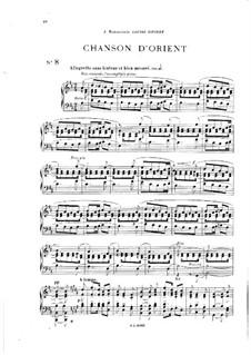 Vingt pièces nouvelles: No.8 Chanson d'orient by Théodore Dubois