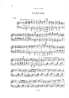 Vingt pièces nouvelles: No.9 Fanfare by Théodore Dubois
