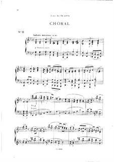 Vingt pièces nouvelles: No.11 Choral by Théodore Dubois