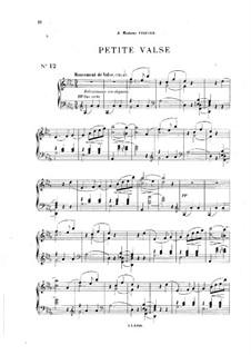 Vingt pièces nouvelles: No.12 Petite valse by Théodore Dubois