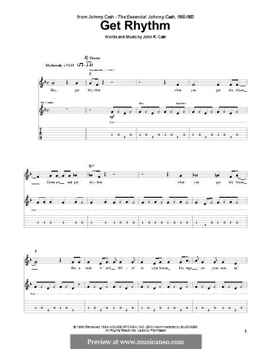 Get Rhythm: For guitar by Johnny Cash