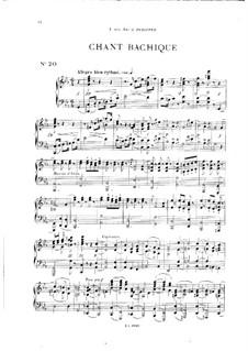 Vingt pièces nouvelles: No.20 Chant bachique by Théodore Dubois