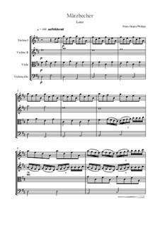 Märzbecher: Nr.3 Lenz – Partitur by Hans-Jürgen Philipp