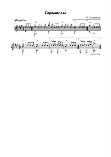 Tarantella, Op.16: For guitar by Oleg Kopenkov