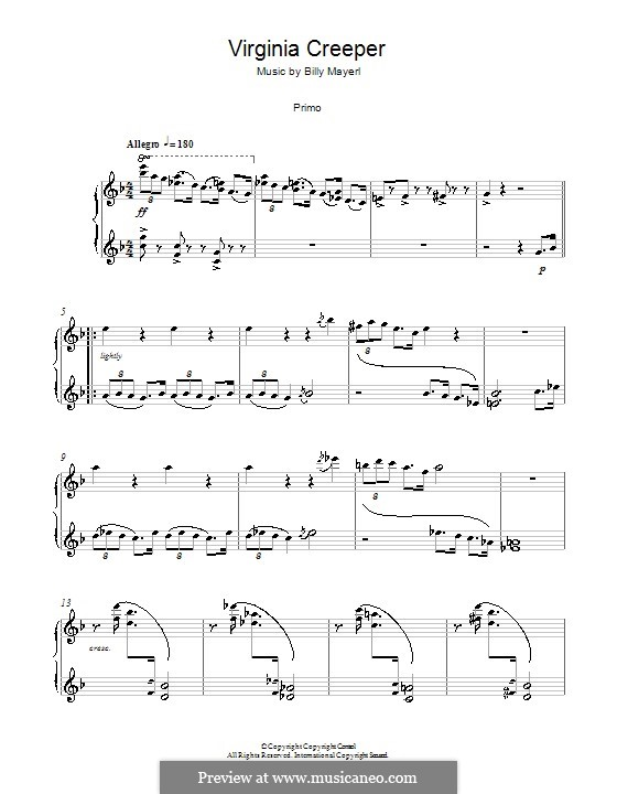 Virginia Creeper: For piano four hands by Billy Mayerl