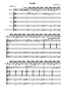 Sevilla: For guitar ensemble by Vladimir Malganov