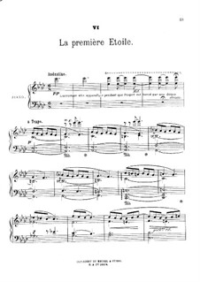 Au jardin: No.6 La première etoile by Théodore Dubois