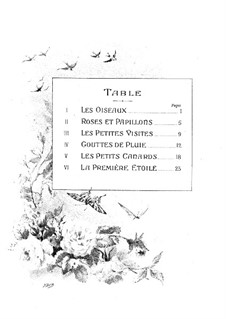 Au jardin: Complete set by Théodore Dubois