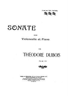 Cello Sonata in D Major: Score by Théodore Dubois