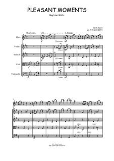 Pleasant Moments: For flute, violin, viola and cello by Scott Joplin