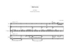 Alla Gavota for flute, violin, cello and piano: Alla Gavota for flute, violin, cello and piano by Peter Petrof