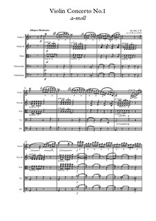 Concerto for Violin and Orchestra No.1 in A Minor: Version for violin and strings by Jean-Baptiste Accolay