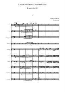 Concerto for Violin (or Viola, or Cello) and Orchestra No.2 in B Minor, Op.35: Version for violin and chamber orchestra by Oskar Rieding
