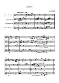 Aria and Allegro for saxophone quartet: Aria and Allegro for saxophone quartet by Henry Purcell