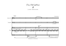 The Old Letters for clarinet, violoncello and piano: Letter II by Peter Petrof