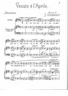 Volume III: Venuto e l'Aprile by Stefano Donaudy
