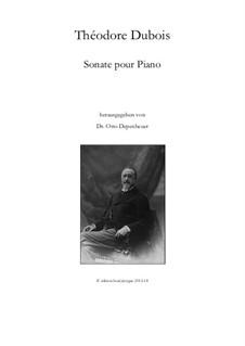 Sonate pour piano: Sonate pour piano by Théodore Dubois