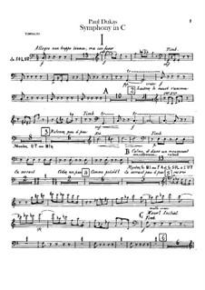 Symphony in C Major: Timpani part by Paul Dukas