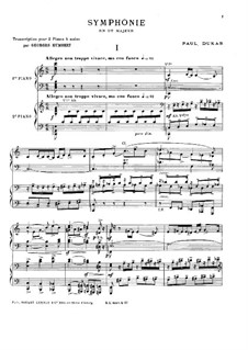 Symphony in C Major: For two pianos four hands by Paul Dukas