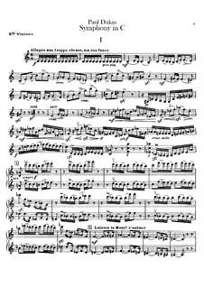 Symphony in C Major: Violin II part by Paul Dukas