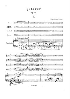 Quintet for Piano and Winds in F Major, Op.38: Full score by William Edmondstoune Duncan