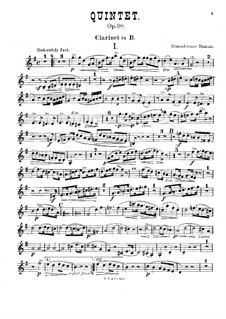 Quintet for Piano and Winds in F Major, Op.38: Clarinet part by William Edmondstoune Duncan
