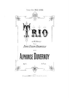 Piano Trio in E Minor, Op.11: Full score by Victor Alphonse Duvernoy