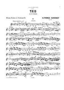 Piano Trio in E Minor, Op.11: Violin part by Victor Alphonse Duvernoy