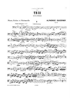 Piano Trio in E Minor, Op.11: Cello part by Victor Alphonse Duvernoy