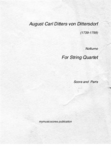 Nocturne: For string quartet by Carl Ditters von Dittersdorf