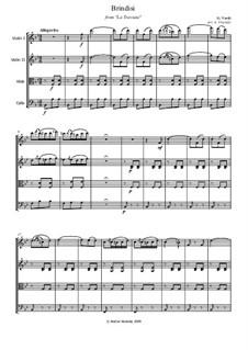 Libiamo ne'lieti calici (Brindisi): For string quartet by Giuseppe Verdi