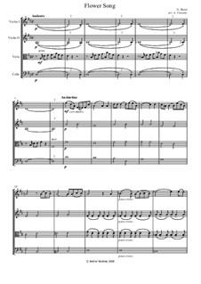 La fleur que tu m'avais jetée (The Flower Song): For string quartet by Georges Bizet