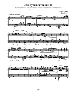 Four pieces for piano, Ор.1: No.2 The traveller's dream by Andrew Rudenko