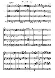 Oh Lovely May, Op.375: For string quartet by Johann Strauss (Sohn)