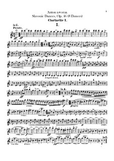 Book I: Clarinets parts by Antonín Dvořák