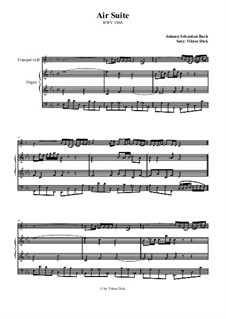Aria. Arrangement for two performers: Trumpet in B and organ by Johann Sebastian Bach